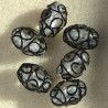 LW24b - Lovely Lampwork Silvered Beads. Pack of 6.