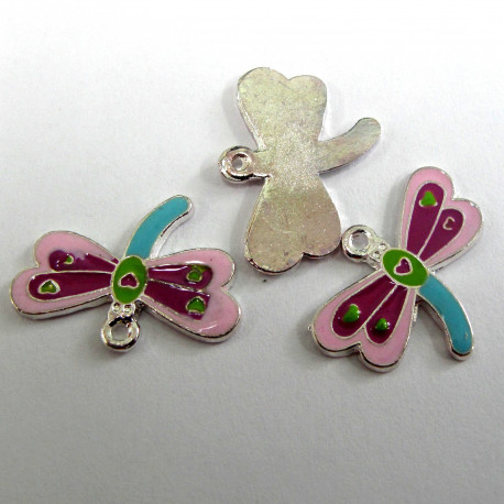F8350 - Dragonfly type charm. Pack of 3