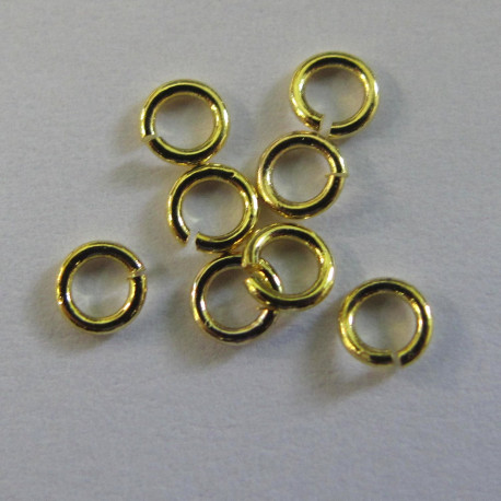 F4268g - 3mm Jump Rings, Gold Colour.