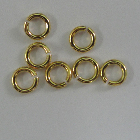 F4270g - 5mm Jump Ring, Gold Colour.