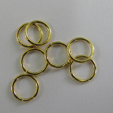 F4272G - 7mm Jump Rings, Gold Colour.
