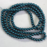 PL0631 - 6mm Glass Pearls, Teal, Long String, Approx. 140 Beads.