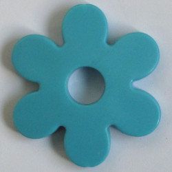 Large plastic flower bead, sky blue colour, pack of 2.