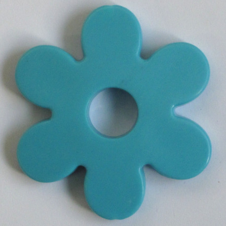 SALE13 - Large Plastic Flower Bead, Sky Blue Colour, Pack of 2.