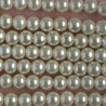 PL0802 - 8mm Cream Coloured Glass Pearls, Approx 27 per String.