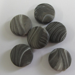 Grey marble effect beads. Pack of 10