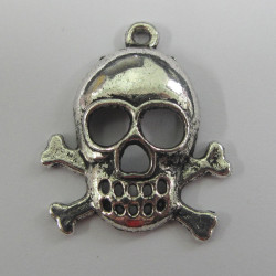 Large skull and crossbones charm.