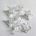 Small clear lucite flowers.