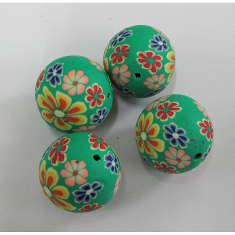 AC4020 - 20mm polymer clay beads. Pack of 5.