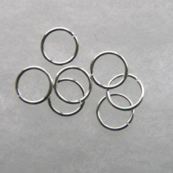9mm jump rings. Silver colour. Pack of 30