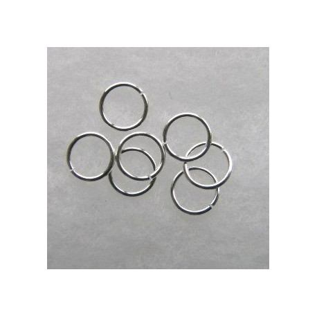 F4274S - 9mm Jump Rings. Silver Colour. Pack of 30