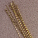 75mm long headpin in gold. Pack of 25