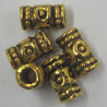 F4117 - Embossed, Tubular Bead, Gold Coloured.