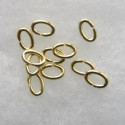 Oval jump rings, 4 x 6mm, gold coloured.