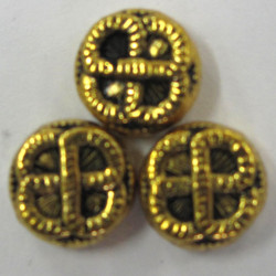 F4145 - Rounded, Embossed, Rope Design Bead.