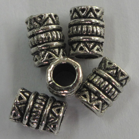 F4149 - Small Tubular Bead, Embossed.
