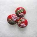 Red glass beads
