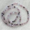 Purple glass beads