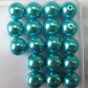 Turquoise glass beads